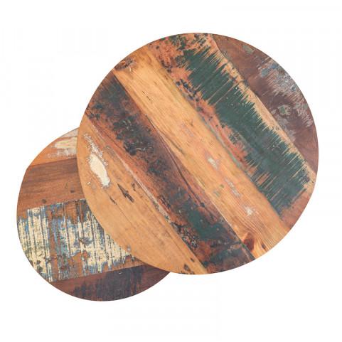 Стол журнальный лофт, набор ИНДУ