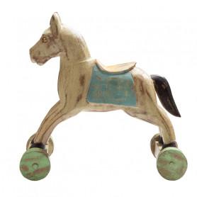 Деревянный декор, лошадка ЧИТРАВИЧИТРА Мятный