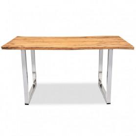 Офисный стол в стиле лофт ДЖИВАН life silver