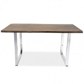 Стол для офиса в стиле лофт ДЖИВАН sigar silver