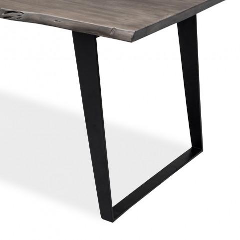 Стол лофт из массива, ДЖИВАН platinum black