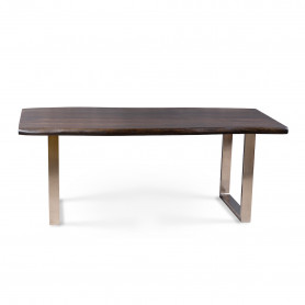 Деревянный обеденный стол в стиле лофт ДЖИВАН sigar silver