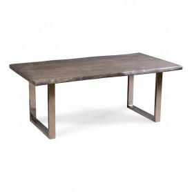 Офисный стол в стиле лофт ДЖИВАН platinum silver